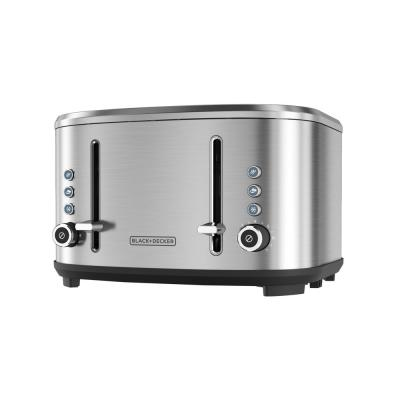 BLACK+DECKER-4-Slice Stainless Steel Extra-Wide Slot Toaster with Crumb Tray