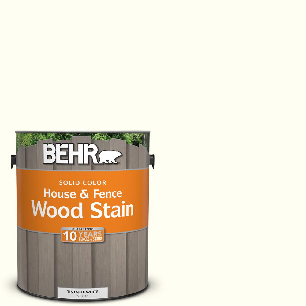 BEHR 1 gal. #SC-337 Pinto White Solid Color House and Fence Wood Stain
