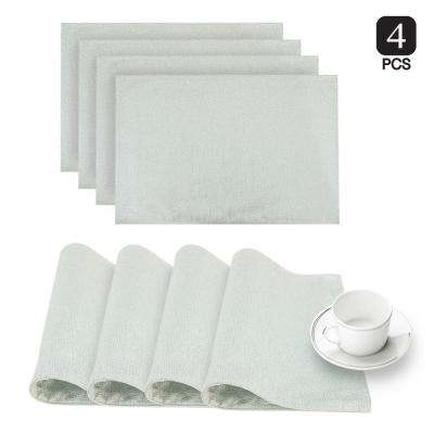 Little Rock Aqua Glimmer Fabric Placemat (Set of 4)