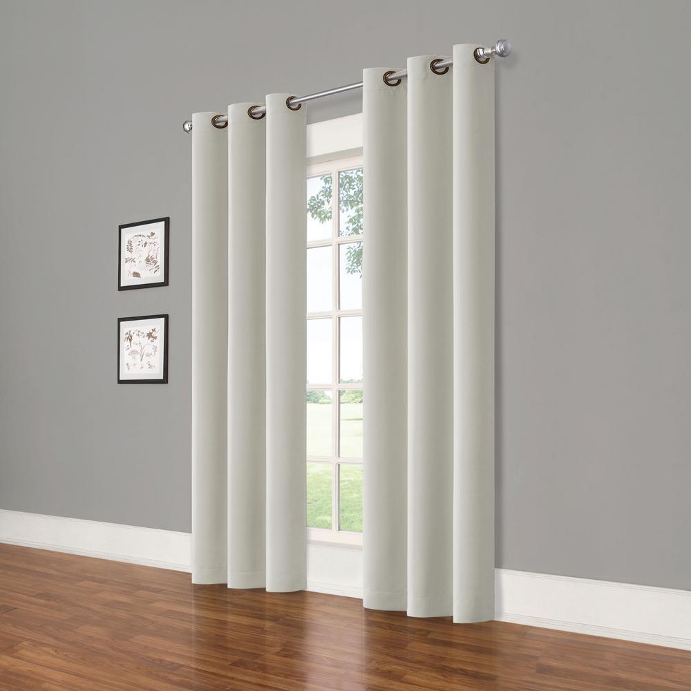 Darrell Grey Blackout Window Panel - 37 in. W x 84 in. L (2-Pack)