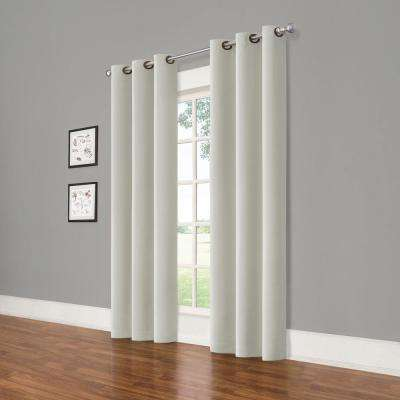 Darrell Grey Blackout Window Panel - 37 in. W x 84 in. L (2-Pack)