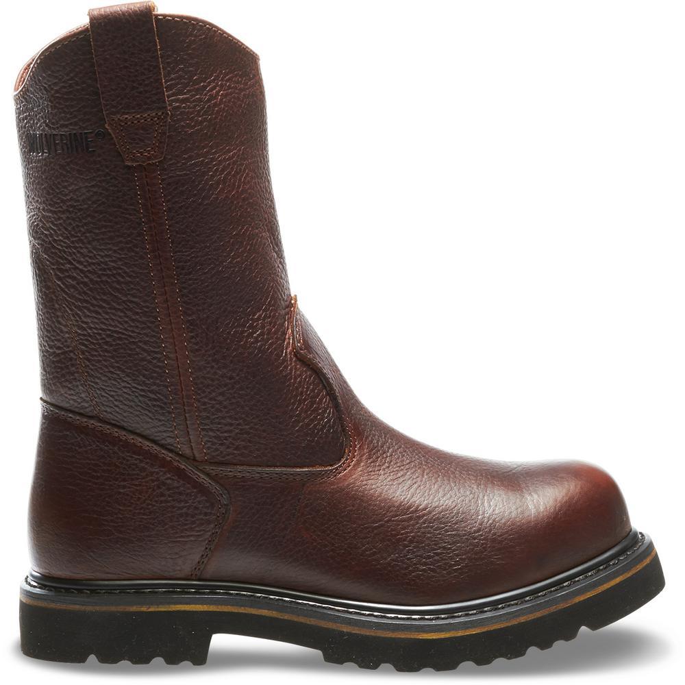 1a0fcfd3945 Wolverine Men's Work Welt Size 7.5M Peanut Full-Grain Leather 10 in. Steel  Toe Work Boot