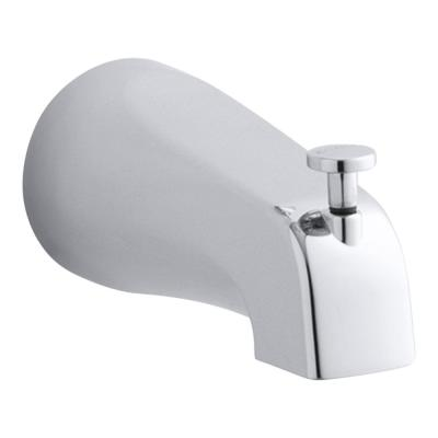 Coralais Diverter Bath Spout with NPT Connection in Polished Chrome