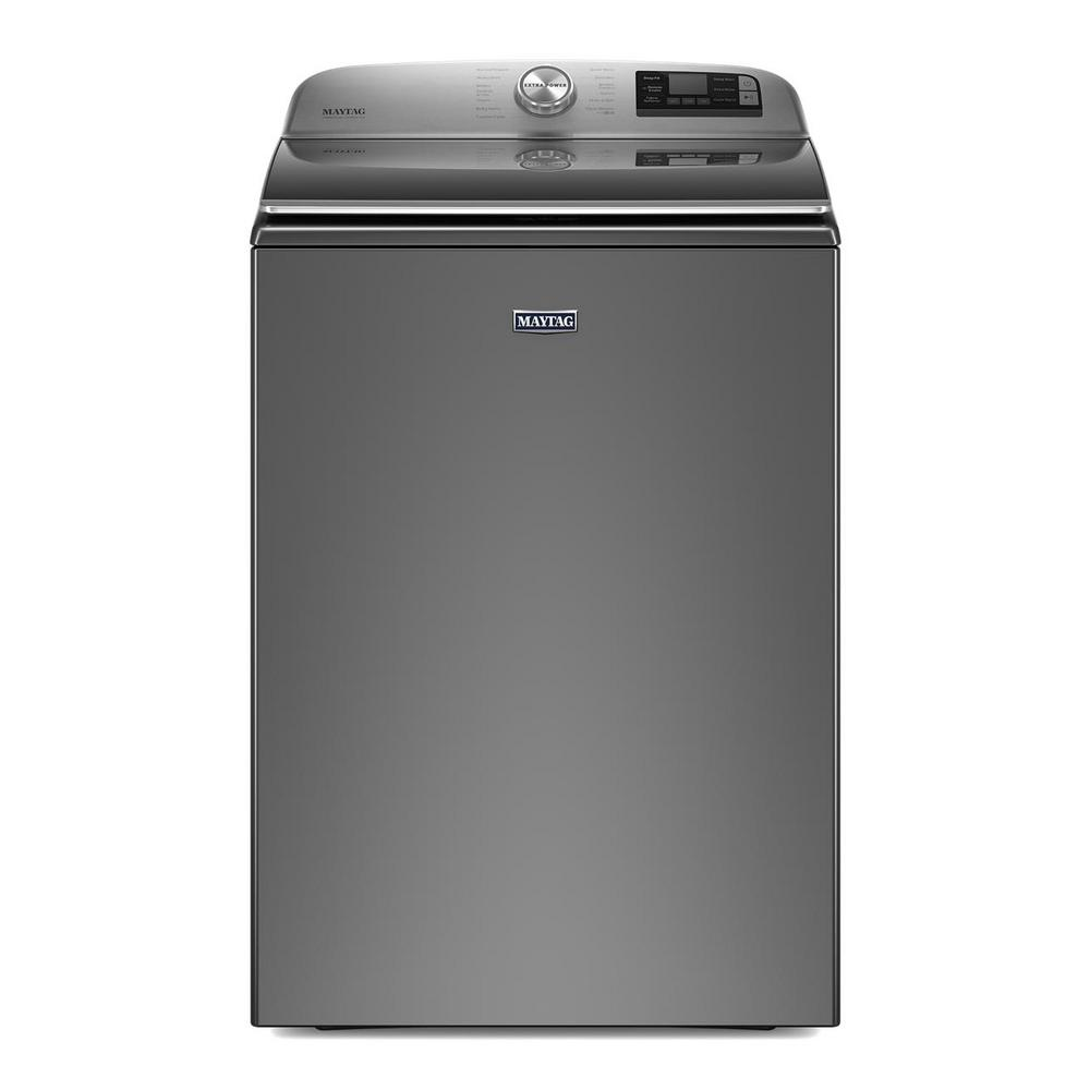 Maytag 5.3 cu. ft. Smart Capable Metallic Slate Top Load Washing Machine with Extra Power Button, ENERGY STAR