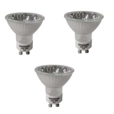 50-Watt MR16 Partial Reflective Flood Halogen Light Bulb (3-Pack)
