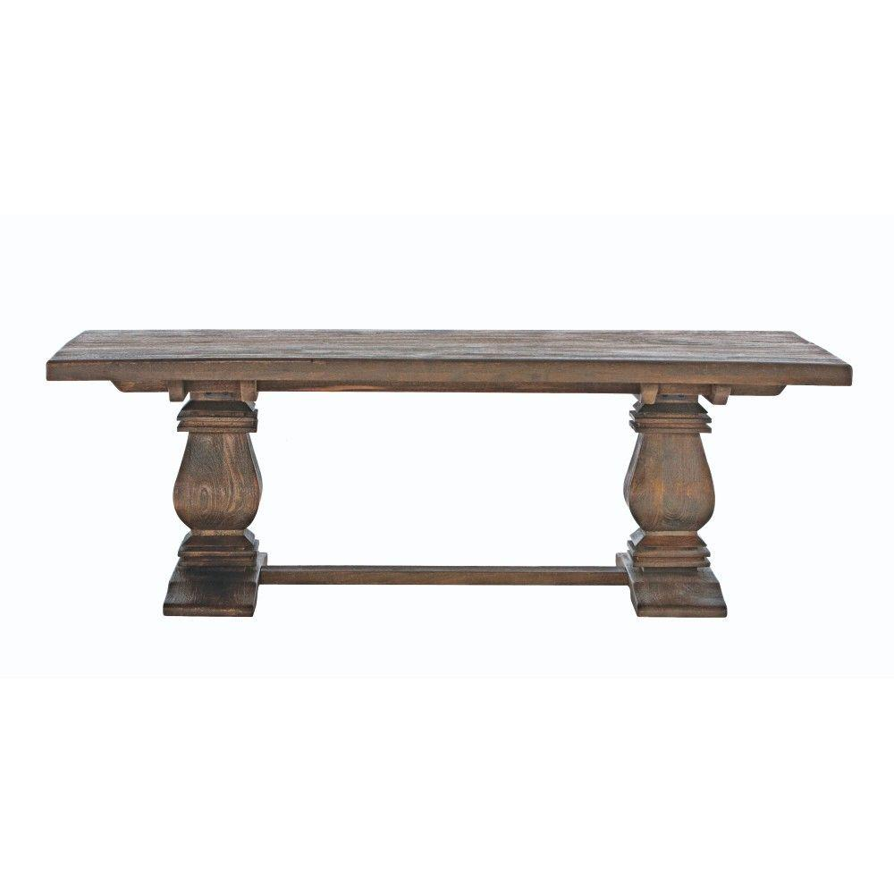 Home decorators collection aldridge antique walnut coffee table 2838400960 the home depot Collectors coffee table