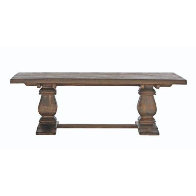 Aldridge 55 in. Antique Walnut Large Rectangle Wood Coffee Table