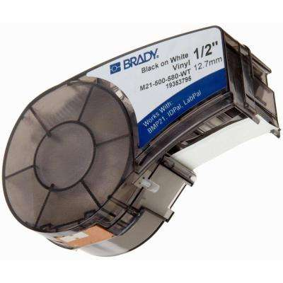 BMP21 B-595 1/2 in. x 21 ft. Indoor/Outdoor Vinyl Black/White Film Tape 1 per Roll