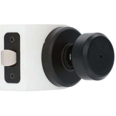 Greyson Matte Black Bowery Privacy Lock Knob