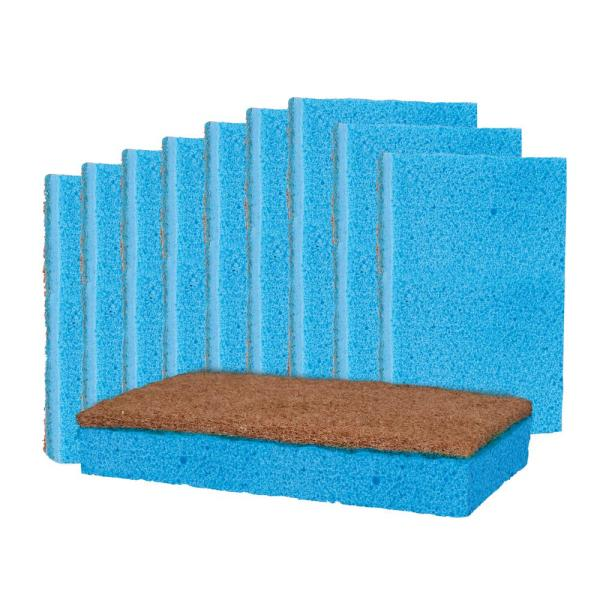 Kitchen Heavy-Duty Odor and Bacteria Resistant Scrub Sponge (10-Pack)