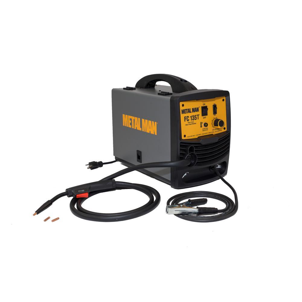 METAL MAN 130 Amp. Output 120-Volt Input Power Flux Core Wire Feed Welder