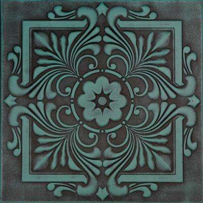 Victorian 1.6 ft. x 1.6 ft. Foam Glue-up Ceiling Tile in Antique Green