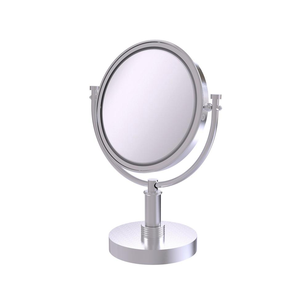 8 in. Vanity Top Make-Up Mirror 5X Magnification in Satin Chrome