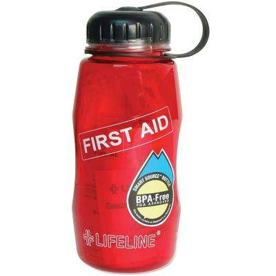 43-Piece Water Bottle First Aid Kit