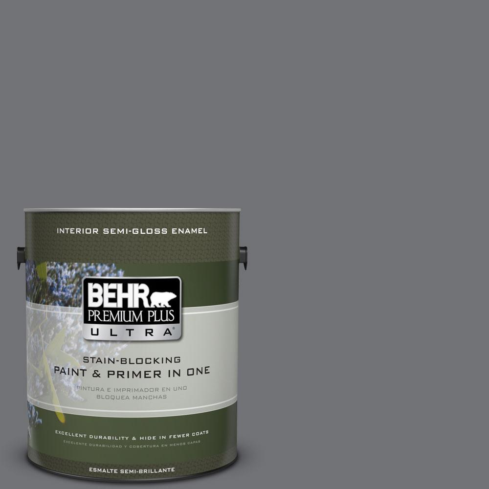 BEHR Premium Plus Ultra 1-gal. #PPU18-3 Antique Tin Semi-Gloss Enamel Interior Paint