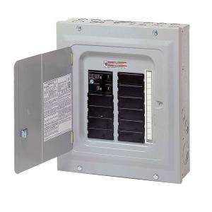 eaton br 100 amp 10 space 20 circuit indoor main breaker loadcenter with  combination cover