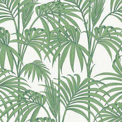 Palm Green Honolulu Removable Wallpaper