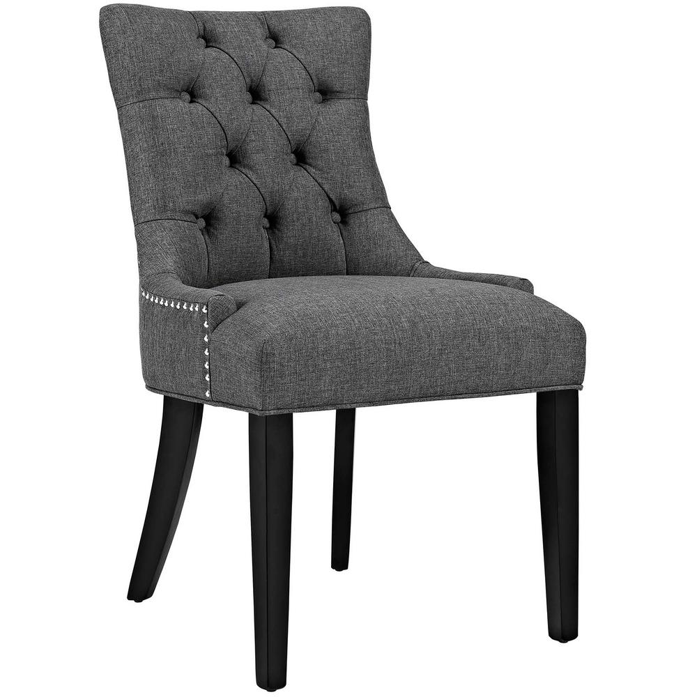 Modway Regent Gray Fabric Dining Chair Eei 2223 Gry The Home Depot