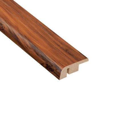 High Gloss Durango Applewood 1/2 in. Thick x 1-1/4 in. Wide x 94 in. Length Laminate Carpet Reducer Molding
