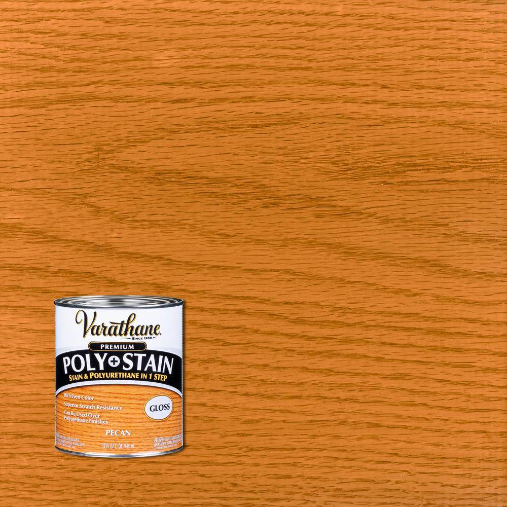 Varathane 1 qt. Pecan Gloss Oil-Based Interior Polyurethane and Stain