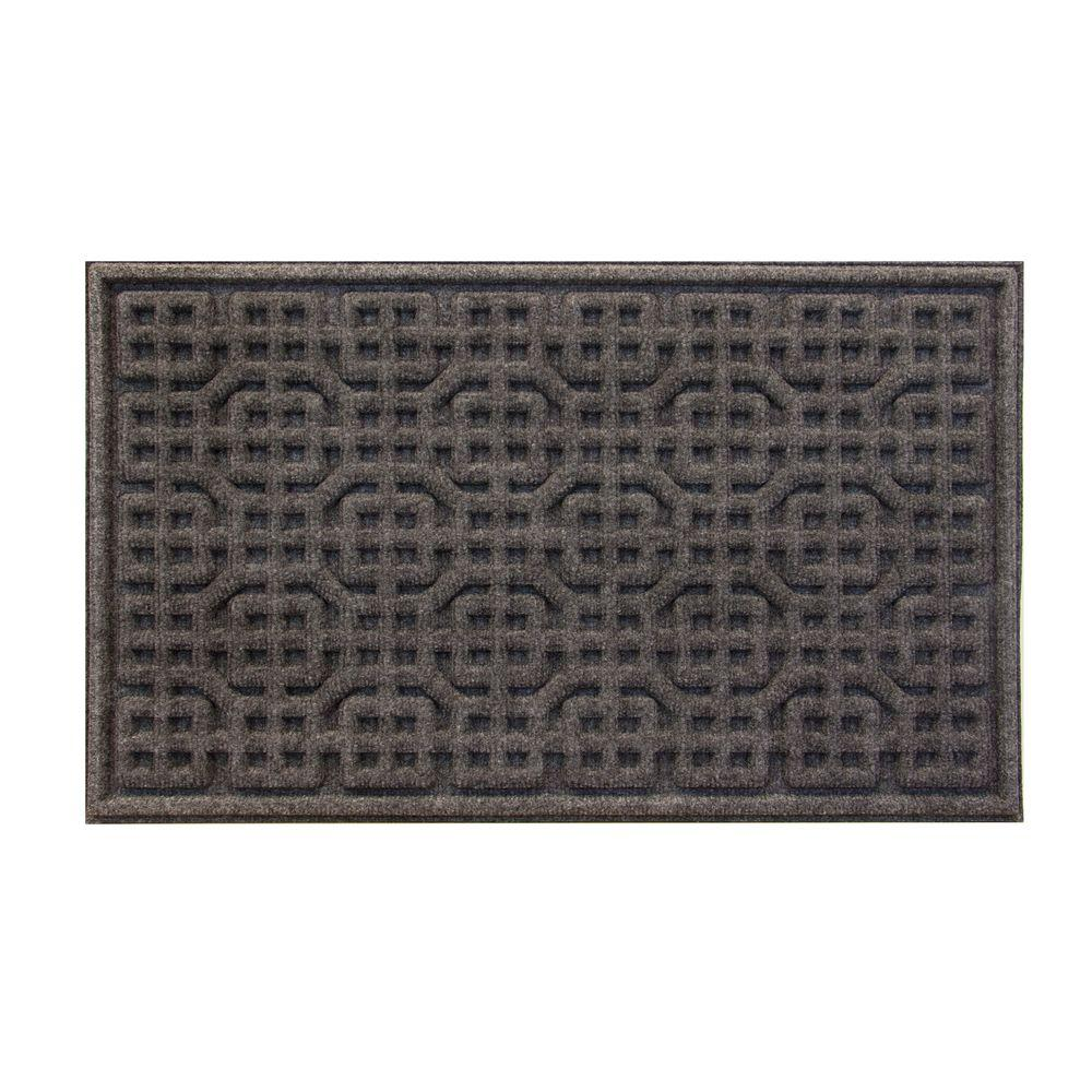 Gray Texture Door Mat 18 X 30 In Durable Polyester Home