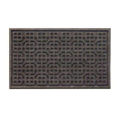 Gray Texture 18 in. x 30 in. Door Mat