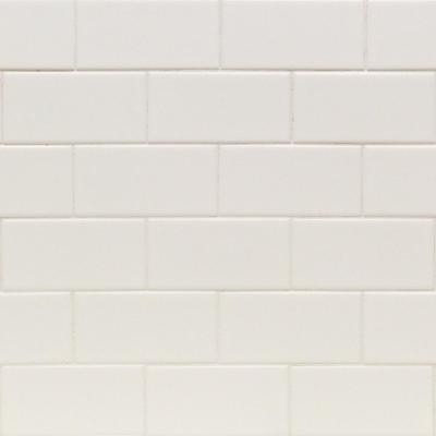 Essential White 3 in. x 6 in. x 6 mm Matte Ceramic Subway Wall Tile (54 Pieces/ 6.54 sq. ft. / Case)
