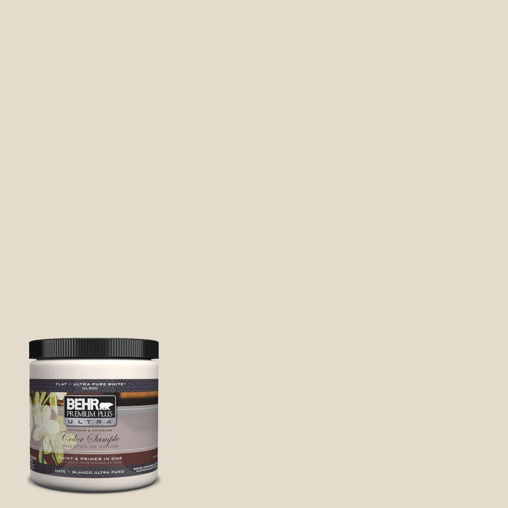BEHR Premium Plus Ultra 8 oz. #UL190-14 Vintage Linen Interior/Exterior Paint Sample