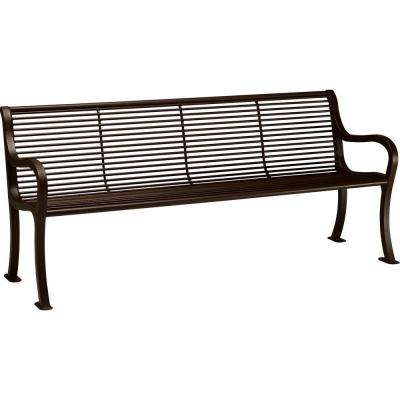 Oasis 6 Ft. Hazel Nut Bench With Back