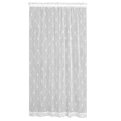 Semi-Opaque Pineapple 45 in. L Polyester Valance in White