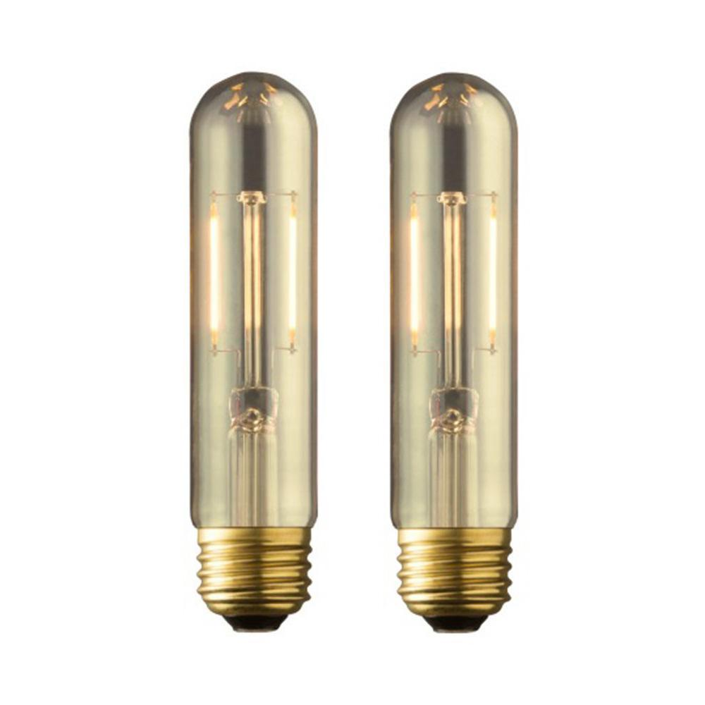 40W Equivalent Warm White T10 Amber Lens Vintage Tubular Dimmable LED