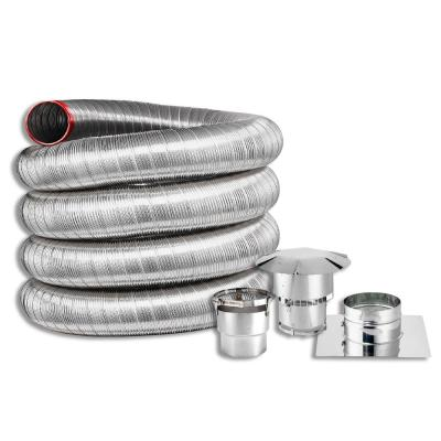 6 in. x 25 ft. Fireplace Insert Direct Connect Kit with Cap