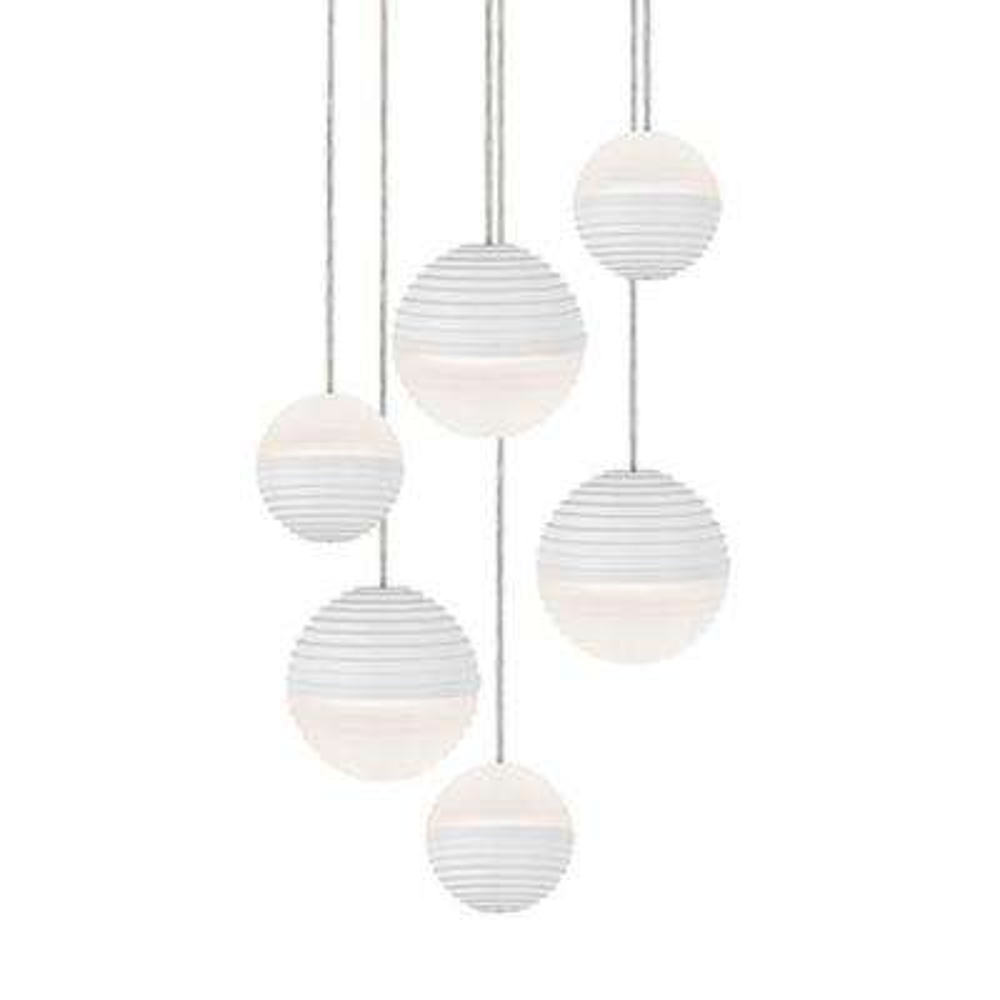 Jessa 1-Light 60-Watt Equivalence White Integrated LED Pendant