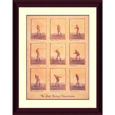 23.5.in x 30.in''Swing Progression'' By PTM Images Framed Printed Wall Art