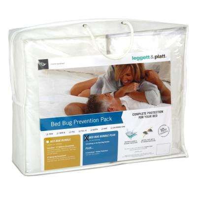 SleepSense Bed Bug Prevention Pack Plus with InvisiCase Polyester Pillow Protectors and Full XL Bed Protector Bundle