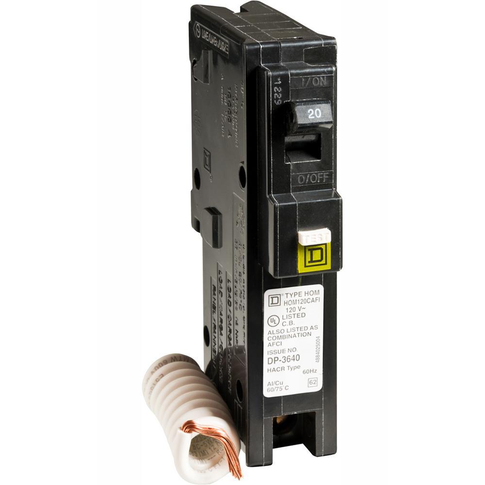 Homeline 20 Amp Single-Pole Combination Arc Fault Circuit Breaker