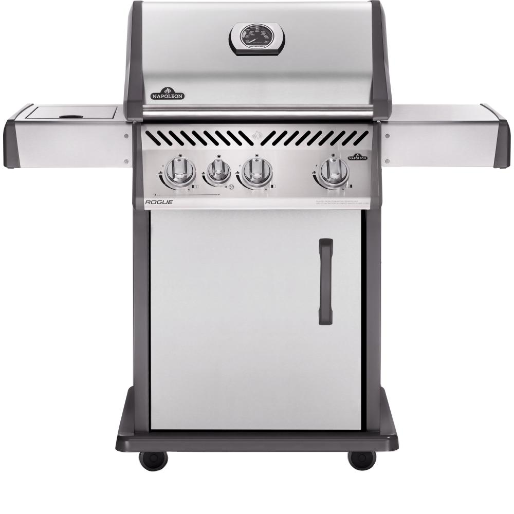 NAPOLEON Rogue 425 3-Burner Propane Gas Grill in Stainless Steel with Range Side-Burner