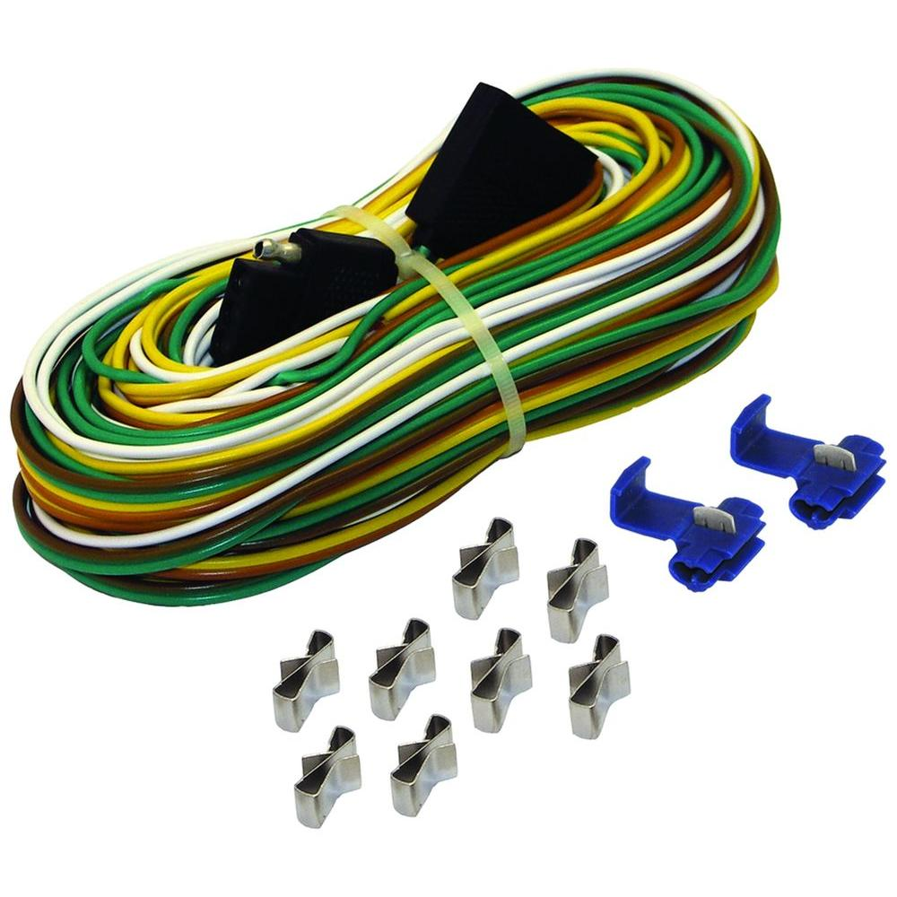 25 Ft Trailer Wire Harness With Full Ground Br59373 The Home Depot Wiring Connector Ends