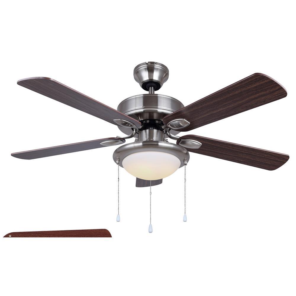 Rex 42 in. LED Indoor Brushed Nickel Ceiling Fan