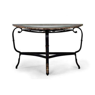 Gallinari Spanish Brown Marble Sofa Table