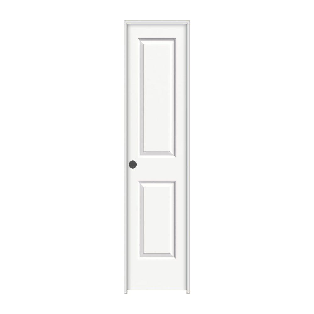 18 in. x 80 in. Cambridge White Painted Right-Hand Smooth Solid