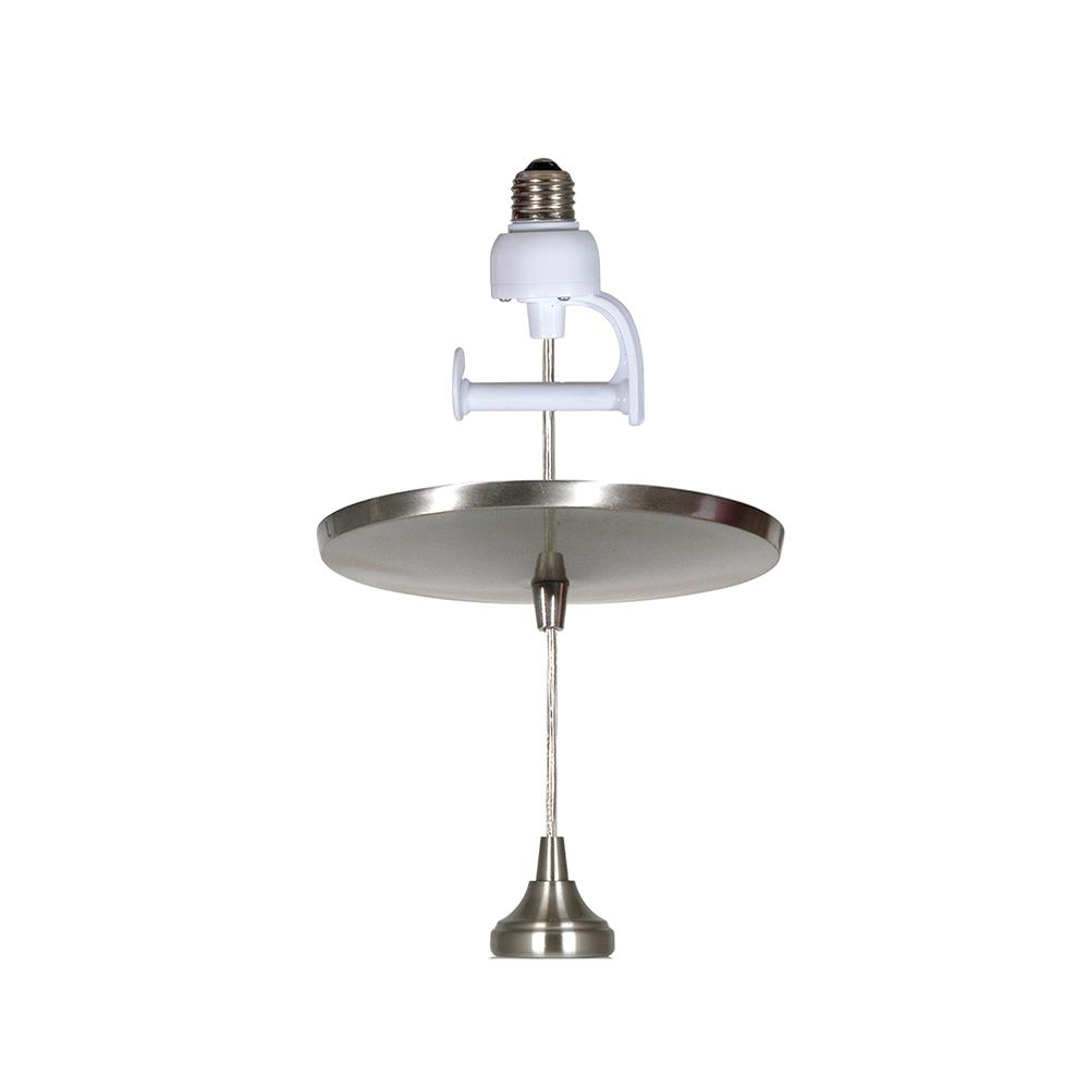 Instant Pendant 1 Light Brushed Nickel Recessed Converter