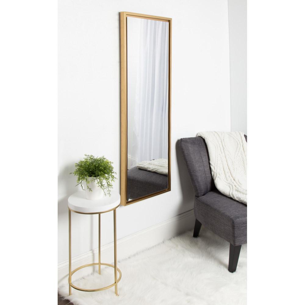 Evans Rectangle Gold Mirror