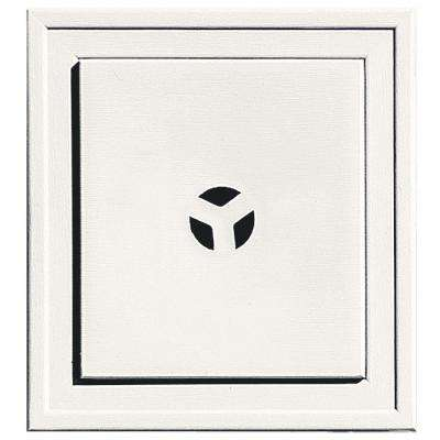 7.9375 in. x 7.3125 in. #123 White Slim Line Universal Mounting Block