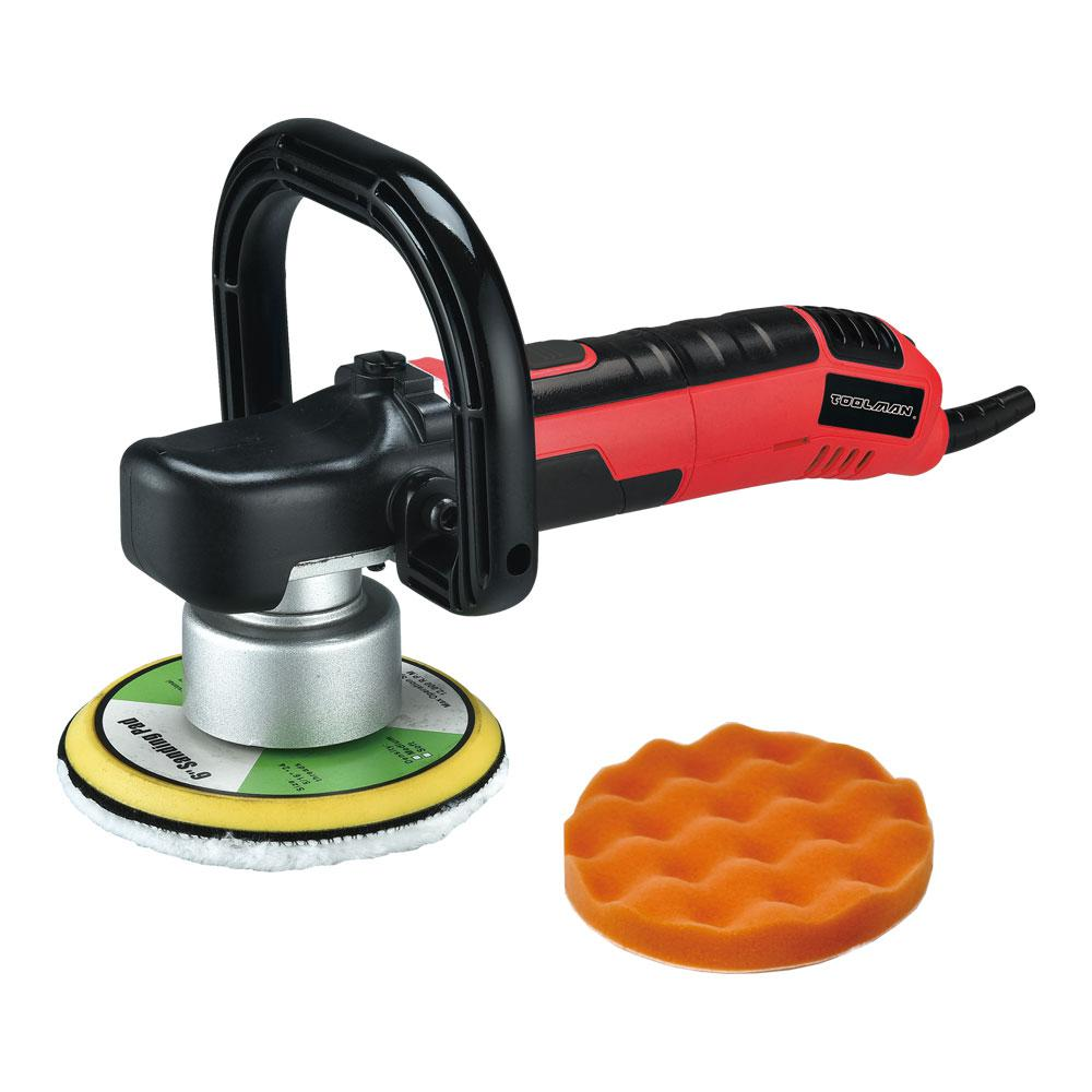 Boyel Living Reconditioned 1600-Watt 6 Amp Corded 7 in. Electric Car Polisher Buffer Sander with Waxer Kit, 6-Speed Variable