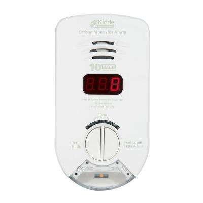 Worry Free Plug-In Carbon Monoxide Detector with 10-Year Battery Backup, Digital Display, and Safety Light