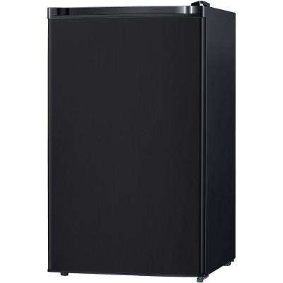 4.4 cu. ft. Mini Refrigerator with Freezer Compartment in Black, Energy Star