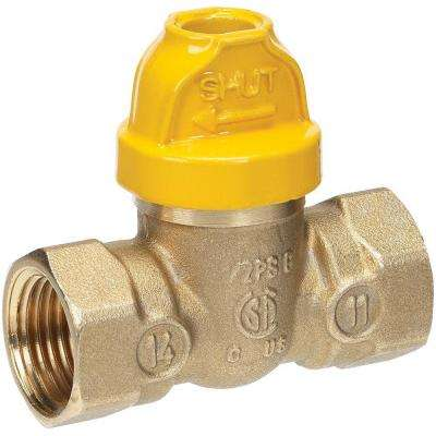 1/2 in. Brass FPT x FPT Safety Gas Ball Valve