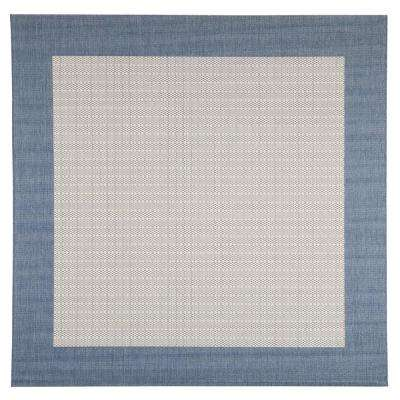 Checkered Field Blue Champagne 9 Ft X Square Indoor Outdoor
