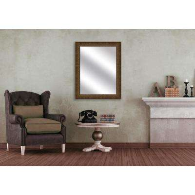 31.5 in. x 25.5 in. Champagne Framed Mirror